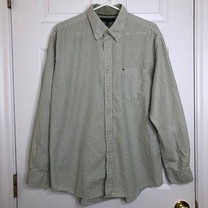 Tommy Hilfiger Dress Shirt Striped Size Large